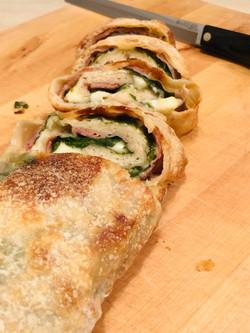 Prosciutto & Spinach Stromboli