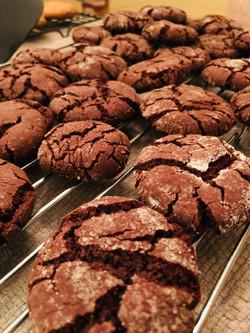 Espresso Crinkle Cookies