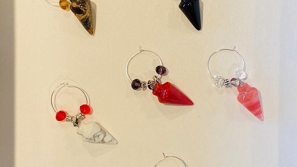Gemstone Glassware Charms - Fire & Coal