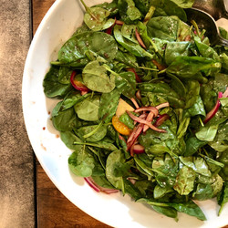 Spinach & Red Onion Salad