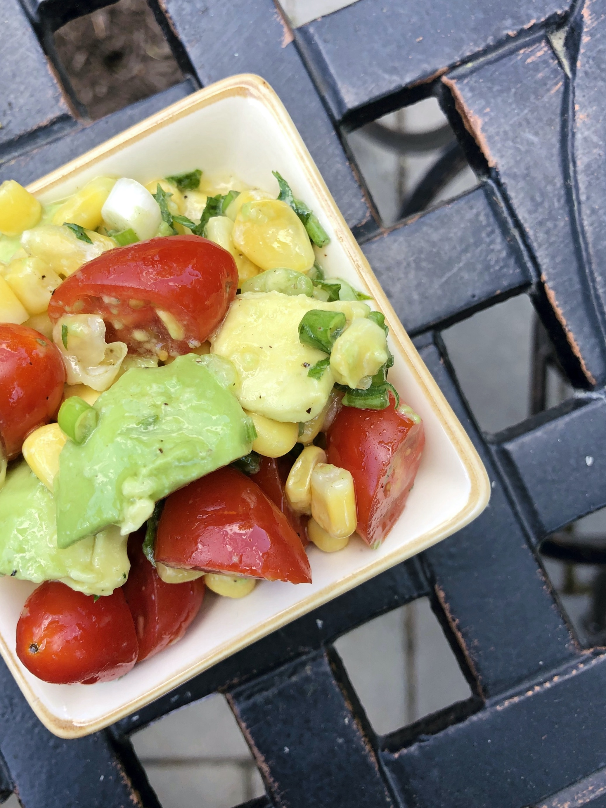 Corn, Avocado & Tomato Salad