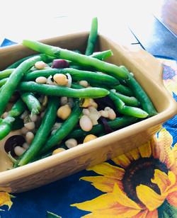 Three Bean Salad with Garlic Dill Dres