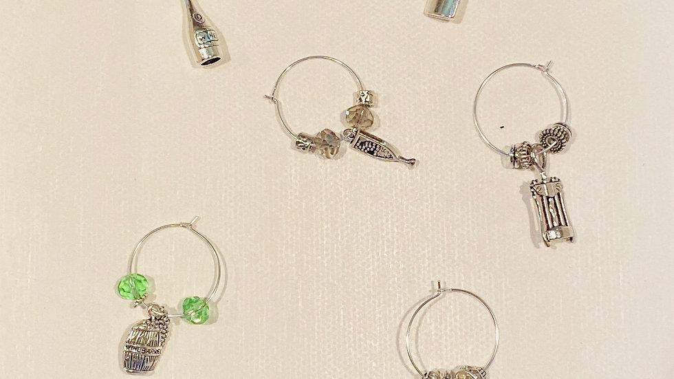 Wine Glass Charms - Emerald & Peridot