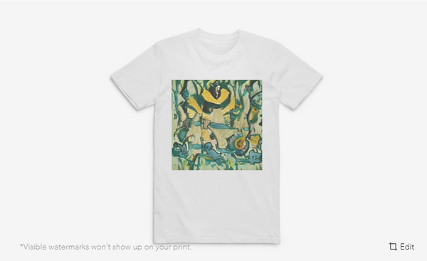 t shirt qith unique art print cherado ar