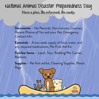 National Animal Disaster Preparedness Day