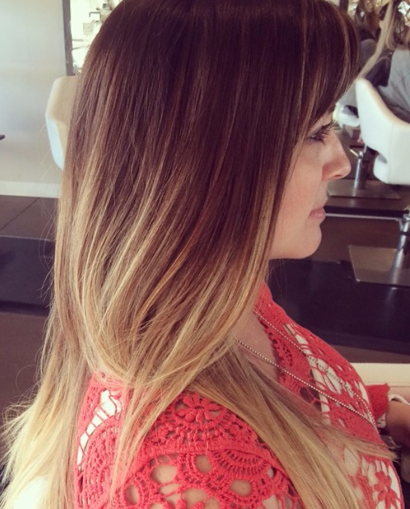 Mint salon ombre Brazilian blowout