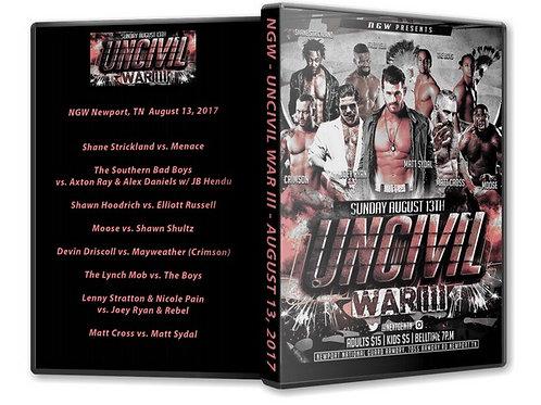 Uncivil War 3 DVD
