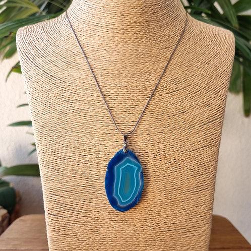 Colar Itacarezinho - Ágata Verde Azulada
