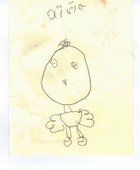 Orange Bird original drawing by Declan (age 6)