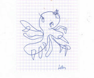 Angry Octopus original drawing