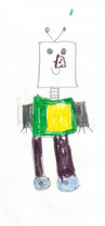 Nate-Bot original drawing by Nate (age 7)