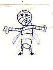 Mummy original drawing by Olivia (age 4)