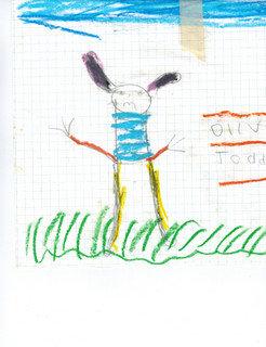 Sad Bunny original drawing