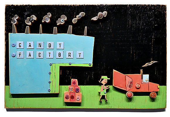 Candy Factory at Night