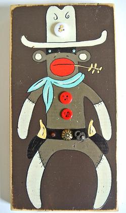 El Caballero Sock Monkey on brown