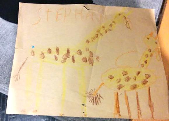 Giraffes original drawing by Stephan