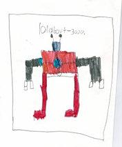 Finnbot original drawing by Finnian (age 9)