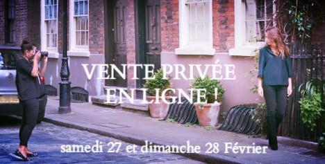 VENTE PRIVÉE EN LIGNE!!