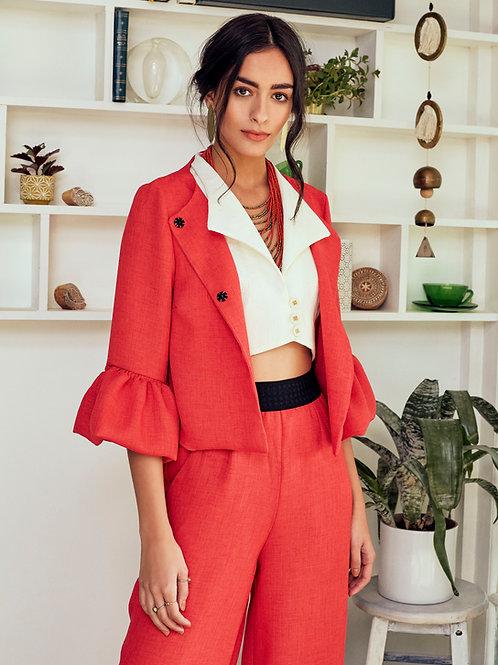 Aziza Coral Cropped Jacket