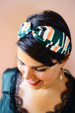 Retro geometric pattern Fern headband