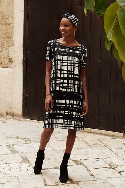 Chelsea Checkered Shift Dress