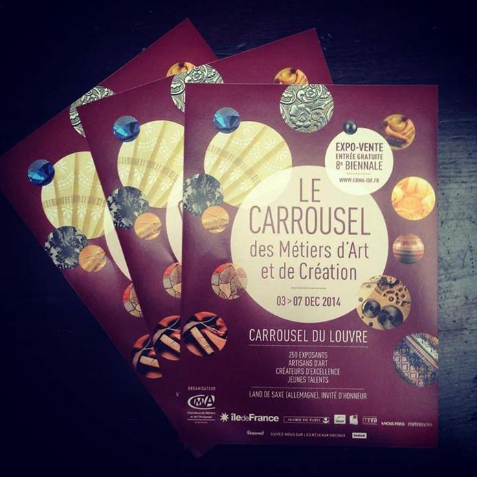 Du 3 au 7 décembre 2014 : Expo-vente au Carrousel des métiers d'arts et de la création au Carrousel