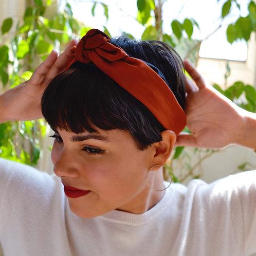 Terracotta Knot-tie Headband