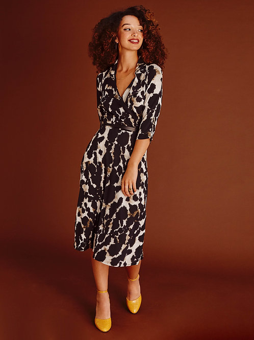 Roxanne Animal print Wrap Dress