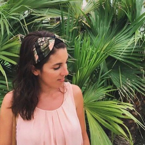 Jungle print on pink Amazone Headband