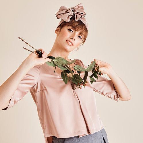 Sienna Pink Satin Wrap Headband