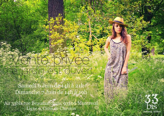 Vente privée Le jardin est ouvert... Samedi 6 et Dimanche 7 Juin