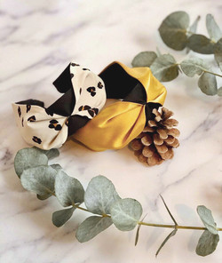 Leopard print Ellie and Yellow Mustard Classic Headband