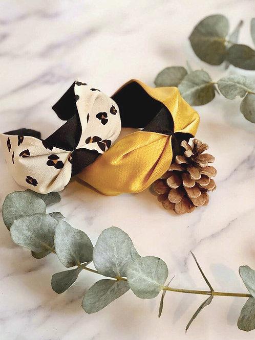 Elle Leopard print on White Headband