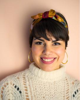 Mustard Nora Knot-tie Headband