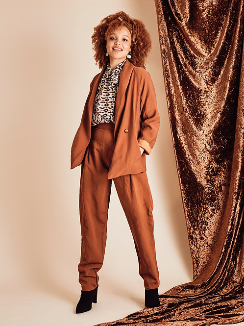 Daphne Autumn Ochre Tapered Trousers