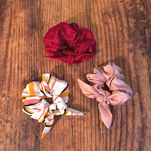 Rosa Scrunchie Set of 3