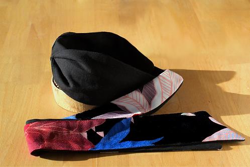 Midnight Nora Floral Print Knot-tie Headband