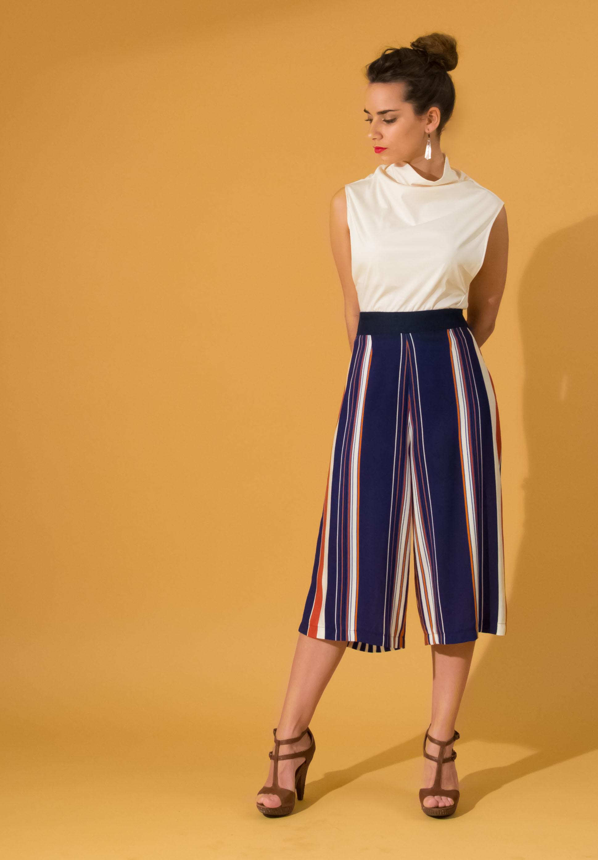 Printemps 2016 Stripe culotte