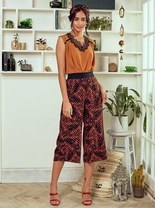 Pantalon Solange - Safran tropical
