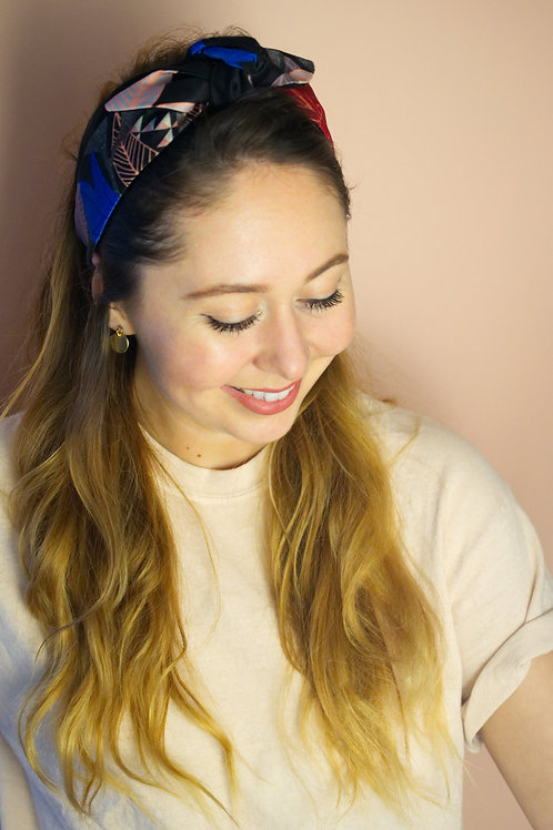 Headband fleur de minuit Nora