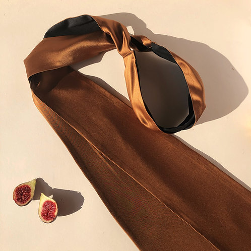 Bronze Silk Wrap Headband