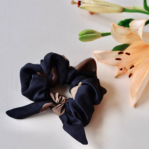 Black Marigold Scrunchie