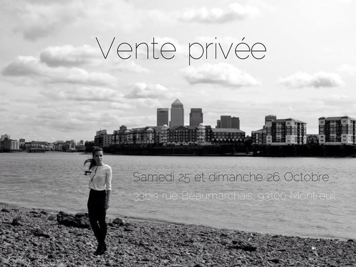 Les 25 et 26 octobre 2014 : vente privée d'automne!