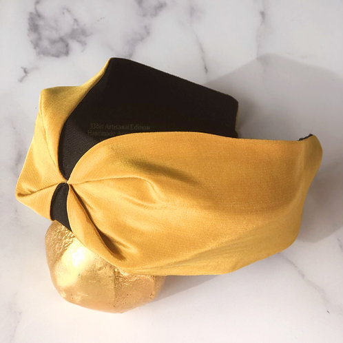 Serre-tête Gold Yellow Silk