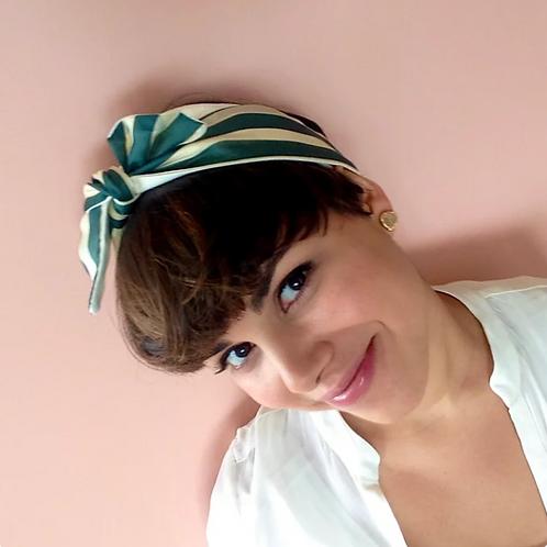 Headband Green Stripes