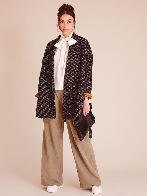 Kendra Wool-blend Oversized Cocoon Coat
