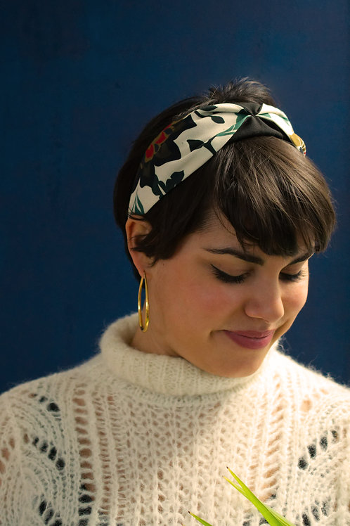 Floral White Tilly Headband
