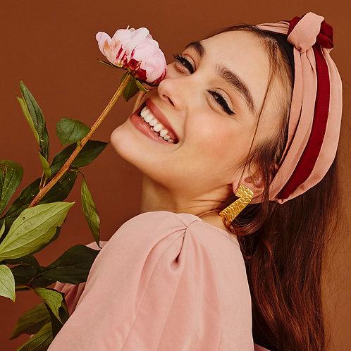 Blush Pink Two-toned  Wrap Headband