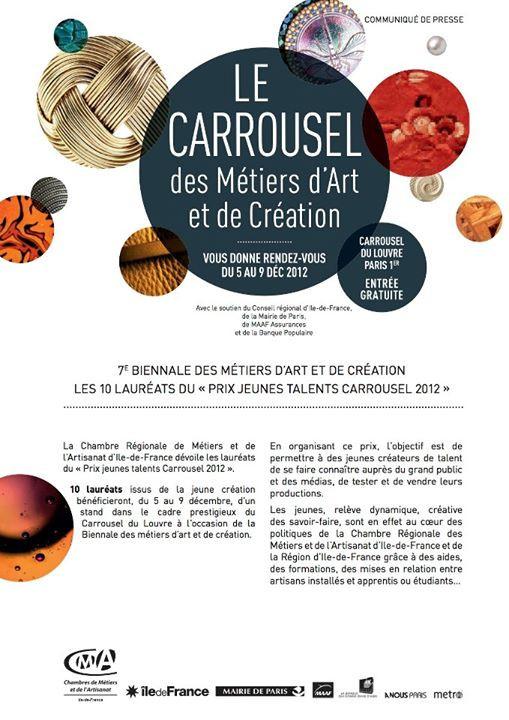 5 au 9 décembre 2012 : Carrousel des métiers d'art et de création