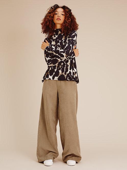 Pantalon Keyla en cupro Beige